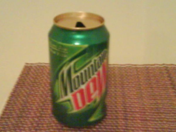 Whatever is left of the last Mountain Dew can I drank like 15 minutes ago. My Second one today.